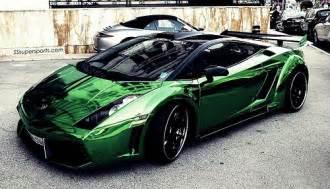Lamborghini Green Paint Chrome Green Lamborghini Gallardo Supercars