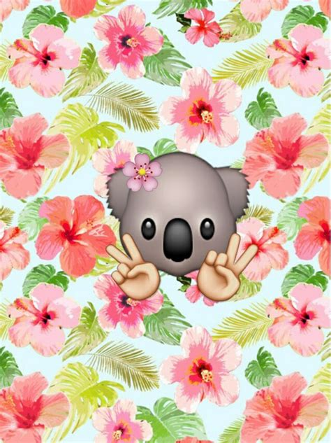 wallpaper emoji flower cute emoji wallpapers for girls wallpapersafari