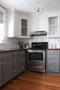 White And Gray Kitchen Cabinets by Stylish Two Tone Kitchen Cabinets For Your Inspiration