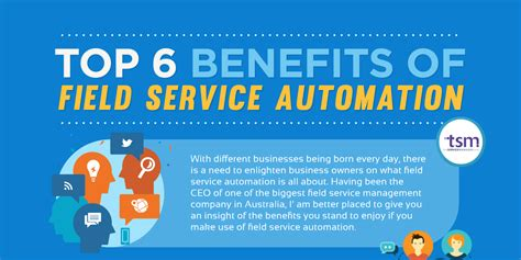 top 6 benefits of field service automation tsm