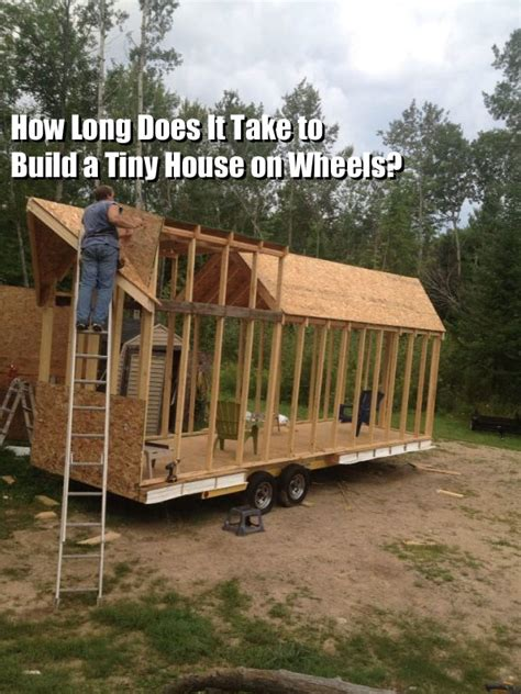i want to build a tiny house q a how long does it take to build a tiny house