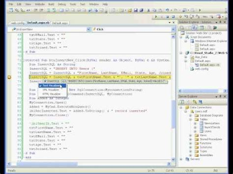 tutorial visual basic 2010 database visual basic tutorial 2008 database www video tutorials