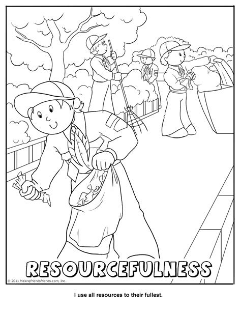 printable coloring activity pages cub scout pack 16