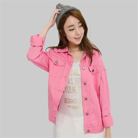 colored jean jackets pink jacket outdoor jacket