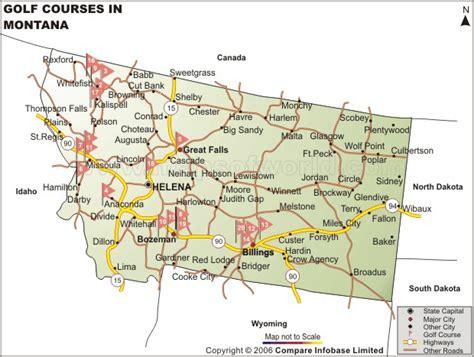 bozeman mt map montana golf courses map best golf courses in montana
