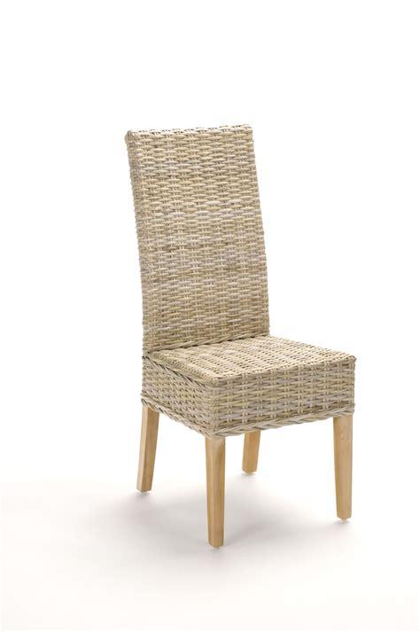 chaise salle a manger rotin chaise en rotin gris tress 233 kubu brin d ouest