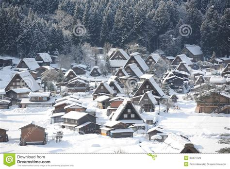 Small Vacation House Plans thatched roof houses covered in snow royalty free stock