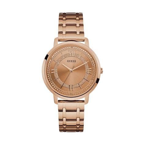 Jam Tangan Guess 5074 Rosegold jual guess w0933l3 jam tangan wanita gold