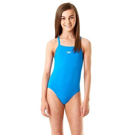 speedo girl swimsuit speedo endurance plus essential solid rippleback girls