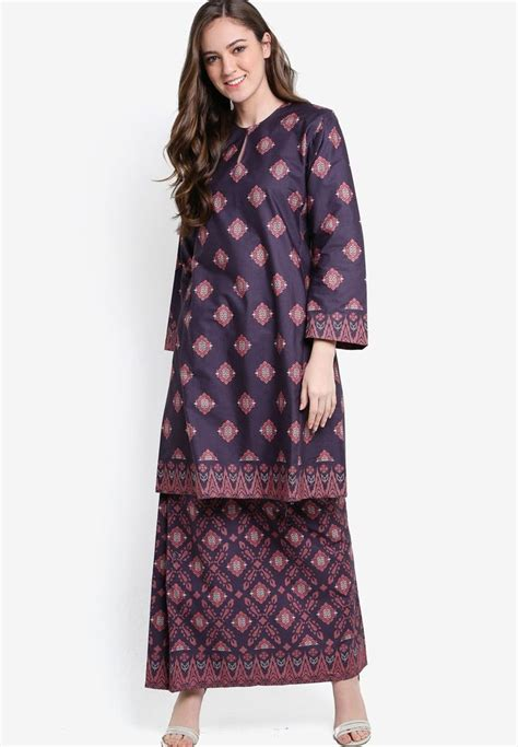 Baju Kurung Cotton Jalur 30 best traditional wear images on kebaya fashion and modest fashion
