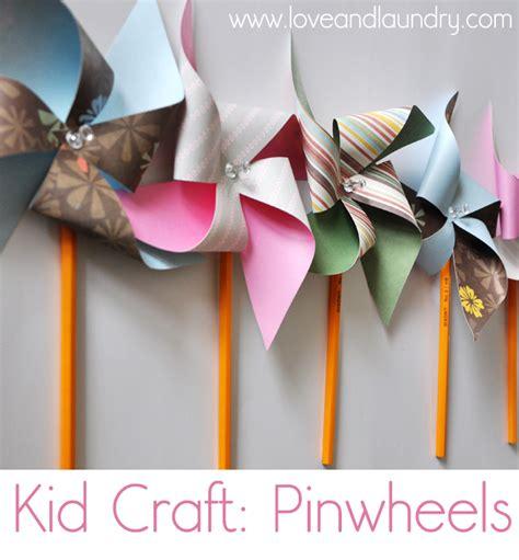 Pinwheel Paper Craft - kid craft pinwheels and laundry