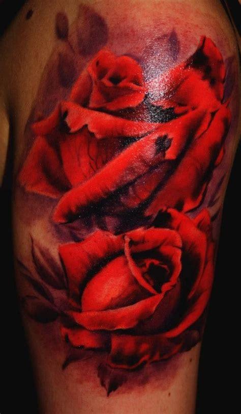 realistic rose tattoo  laura juan design