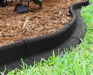 landscape edging black  pack rubber lawn border garden