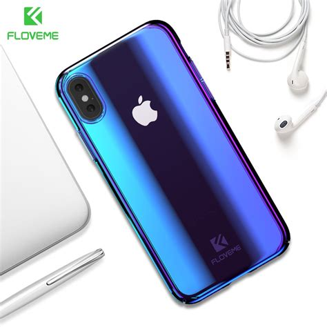 floveme blue ray light case  iphone  iphone xs max luxury hard pc phone case  iphone xr