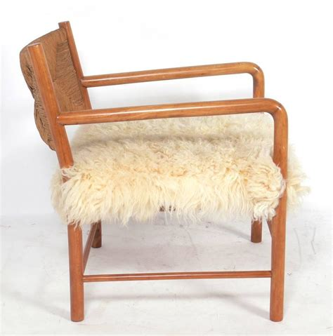 Sheepskin Covers For Recliner Chairs by Italian Midcentury Lounge Chair In Woven Paper Cord And