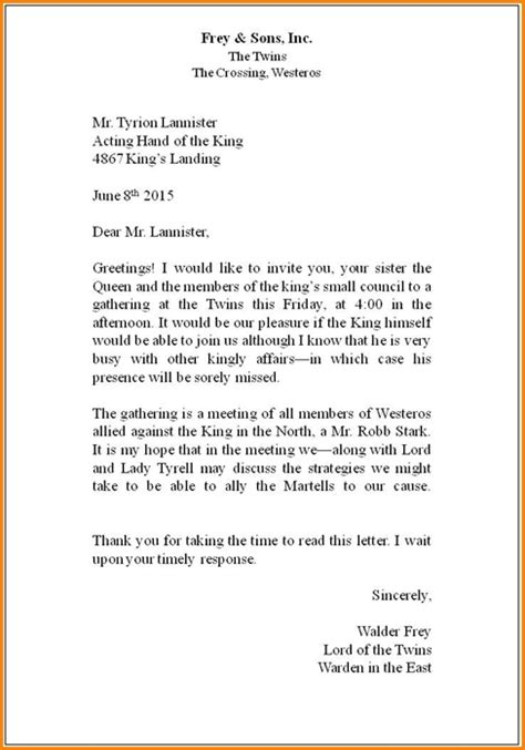 correct way to write a business letter the best letter sle