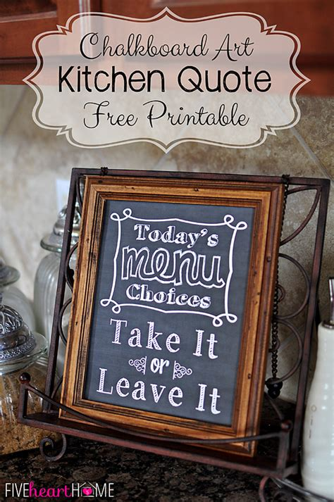 Menu Chalkboard For Kitchen by Menu Chalkboard Quotes Quotesgram