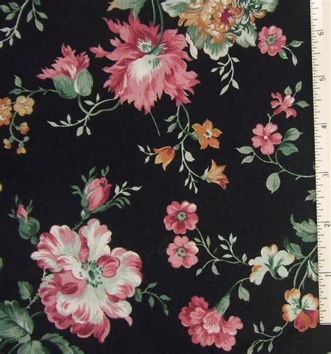 floral prints fabric cotton black pink floral print lightweight
