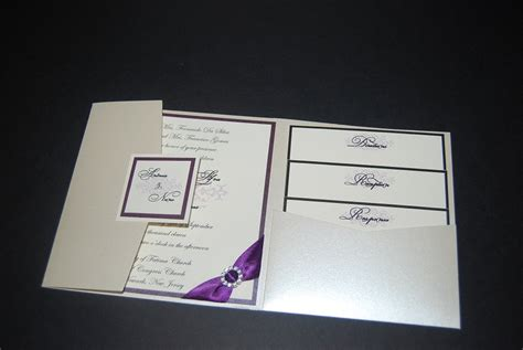 Pocketfold Wedding Invitations by Silver Wedding Invitation Pocketfold Invitation Rhinestone