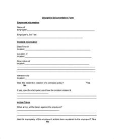 employee form template employee discipline form 6 free word pdf documents