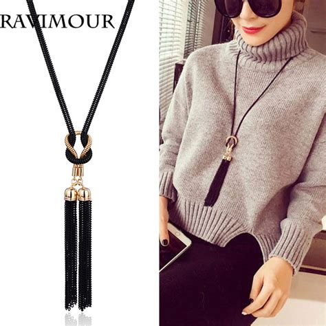 Kalung New Fashion Jewelry Gold Chain Necklace Pendant B 1 aliexpress buy ravimour necklace gold black