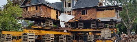 Raising A House by House Lifting Raising Nickel Bros Residential