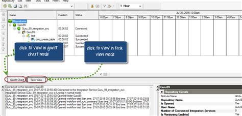 workflow monitoring workflow monitor in informatica task gantt chart view