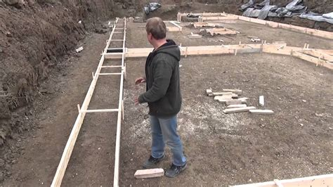 how to make a house a home how to build a house pouring the footing youtube