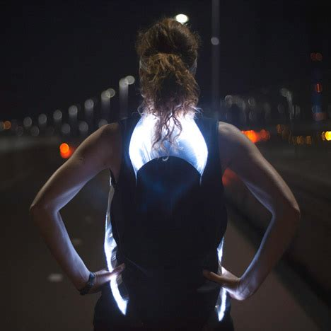 safety lights for runners at night phototrope shirt lights up with leds for safe running at night