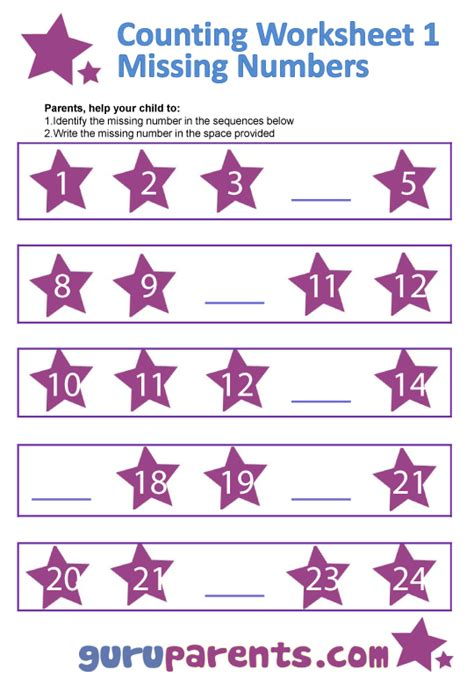 printable number line worksheets for kindergarten number line charts guruparents