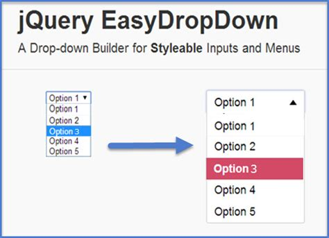 tutorial point of jquery stylish dropdown menu with the easydropdown