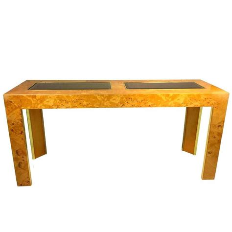 thomasville sofa tables burl olive ash console or sofa table by thomasville for