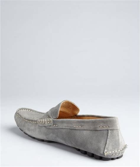 kenneth cole suede loafers kenneth cole grey suede loafers in gray for