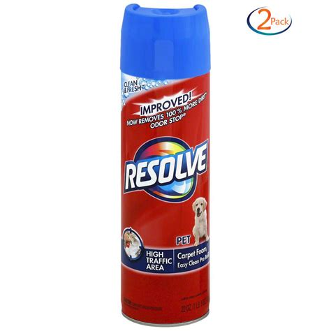 Pet Upholstery Cleaner by 2 Pack Resolve Pet High Traffic Foam Carpet Upholstery