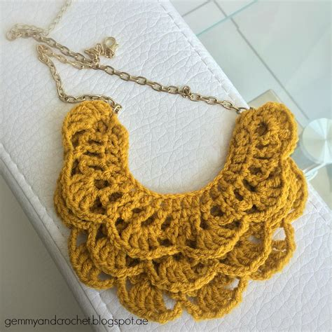 crochet necklace with all about crochet free pattern crochet bib necklace