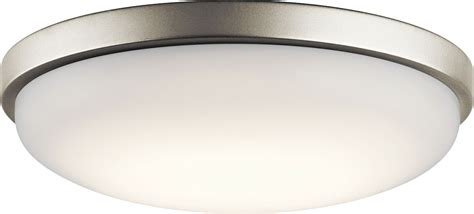 brushed nickel ceiling light fixtures kichler 10764niled brushed nickel led ceiling light