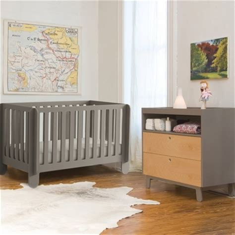 Grey Crib And Dresser Set by Oeuf 2 Nursery Set Elephant Convertible Crib And