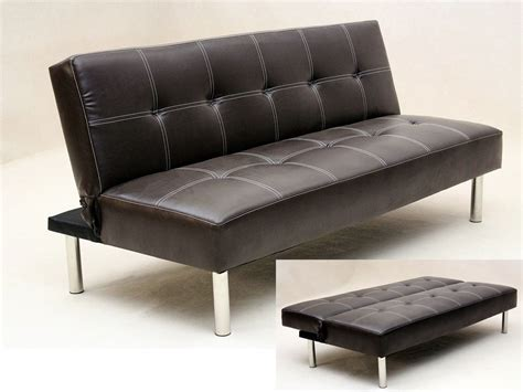 Leather Sofa Bed Sale Uk by Faux Leather 3 Seater Sofa Bed Brown Black Homegenies