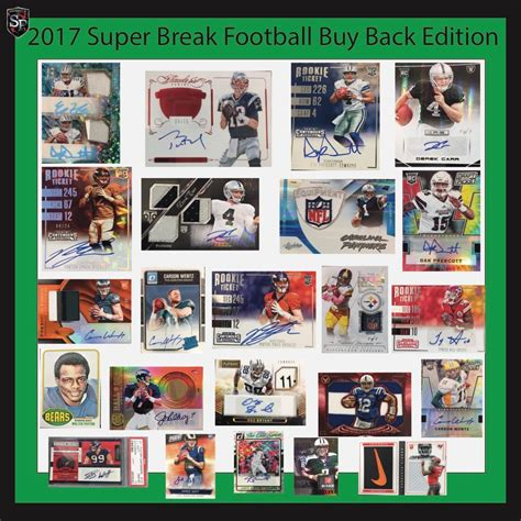 Gift Card Buy Back - 2017 super break football buy back cards edition all cards