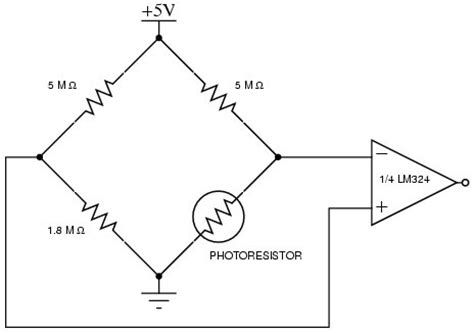 photoresistor wheatstone bridge photoresistor wheatstone bridge 28 images cds detector measuring resistance using the