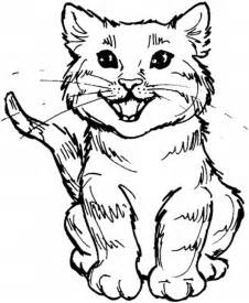 Kitty cat coloring pages bestofcoloring com