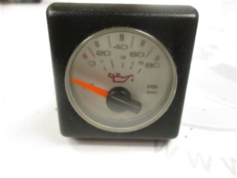 boat gauges square 1990 bayliner capri faria square bezel white faced oil