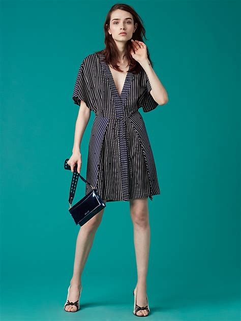 Sleeve Tie Front Dress sleeve v neck tie front dress landing pages by dvf