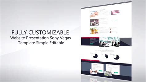 Website Presentation Promo Template Sony Vegas 12 13 14 Youtube Sony Vegas Slideshow Templates Free