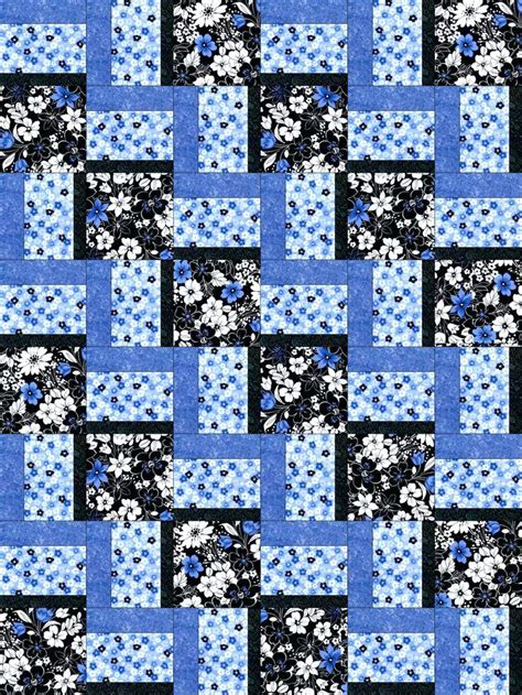 Patchwork Photo Quilt - blue patchwork quilts co nnect me