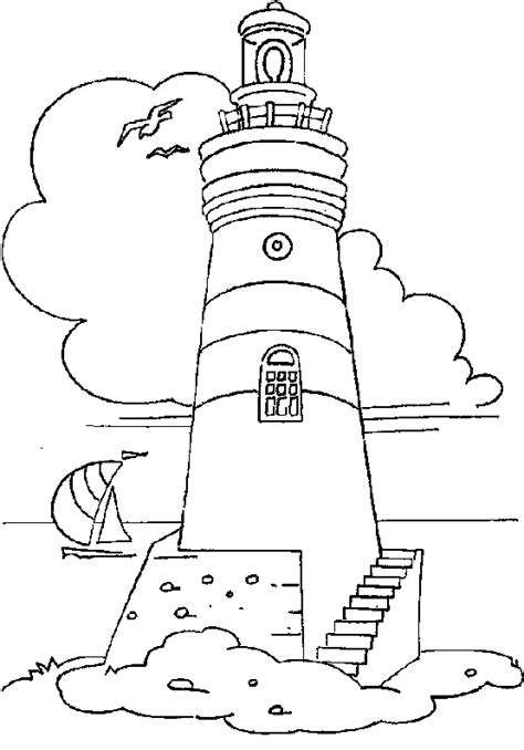 lighthouse coloring page lighthouse outline coloring pages