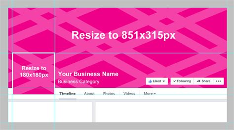 facebook cover layout template facebook business page cover photo template 187 blog social