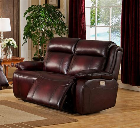 Leather Sofa Power Recliner Faraday Top Grain Leather Power Reclining Loveseat