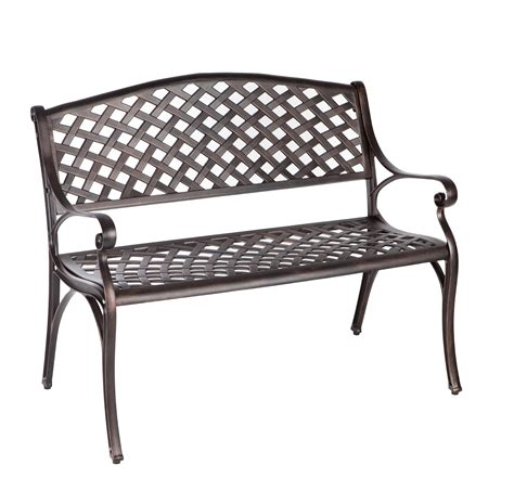 bronze bench antique bronze cast aluminum patio bench well traveled