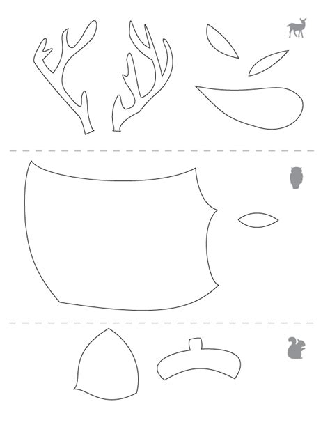 craft templates free 5 best images of printable squirrel craft template
